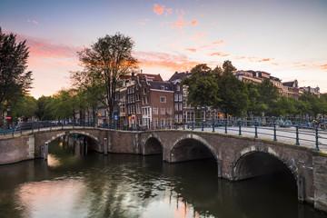 Bridge over Keizersgracht canal, Amsterdam, Netherlands