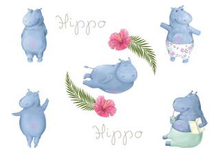Hippo Clip art animal hippopotamus