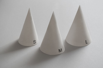 Various size dunce caps