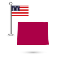 U.S. state of Colorado on the map on a white background. America