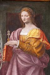 Santa Lucia. Affresco di Bernardino Luini; chiesa di San Maurizio, Milano