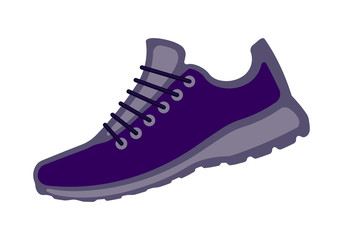 Sport shoes icon, colorful sneakers illustration for your design.