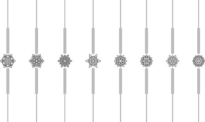 Set of 8 vertical vector mono line style text dividers, decorative elements for your design.