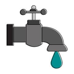 Water faucet symbol vector illustration graphic design