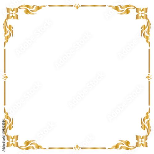 Decorative frame and border, Square frame, Golden frame, Thai ...