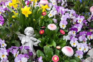 Engel am Grab - Frühling