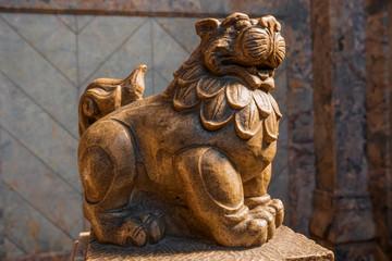 狛犬の彫像