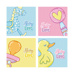 Baby love cartoons cards