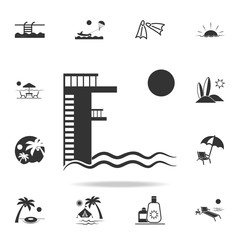 Board diving icon. Detailed set of beach holidays icons. Premium quality graphic design. One of the collection icons for websites, web design, mobile app