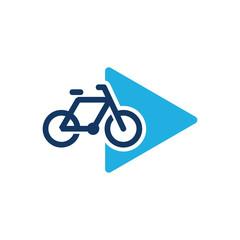 Bike Video Logo Icon Design