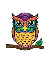 Colorful owl design