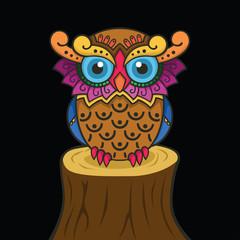 Colorful owl design
