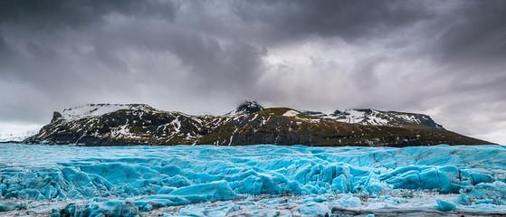 Printed kitchen splashbacks Glaciers Panorama of Skaftafell glacier, Vatnajokull National Park in Iceland.