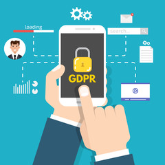 General Data Protection Regulation - GDPR. Vector illustration