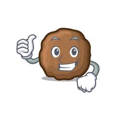 Thumbs up meatball character cartoon style