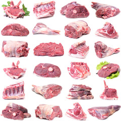 Poster Vlees Mutton meat