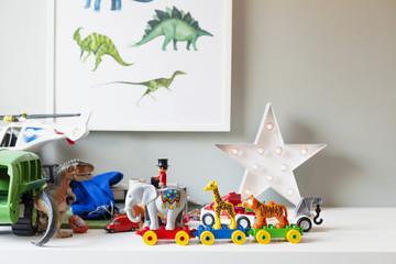 Toys in boys room