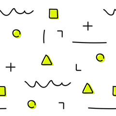 back to school – seamless geometric pattern