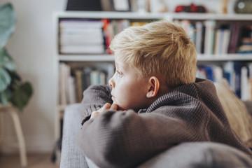 Boy on sofa