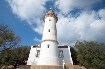 Lighthouse on the hill, Gelodonia, Turkey
