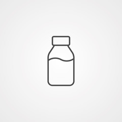 Milk vector icon