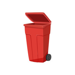 Trash bin vector illustration isolated on white background.