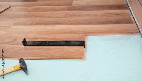 Install Wooden Laminate Flooring With Insulation Tools And