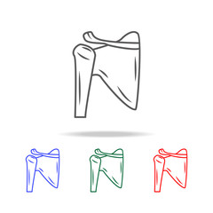 Shoulder joint isolated  icon. Elements of human body part multi colored icons. Premium quality graphic design icon. Simple icon for websites, web design, mobile app, info graphics