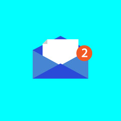 Outline email icon isolated on grey background. Open envelope pictogram. Line mail symbol for website design, mobile application, ui. Editable stroke. Vector illustration.