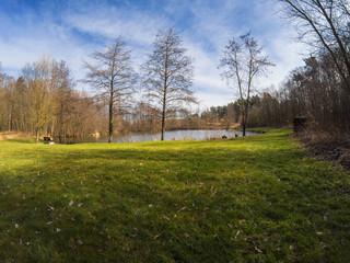 Romantic lake view