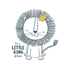 Little king. Vector illustration for kids
