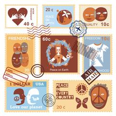 International Friendship Symbols Stamps