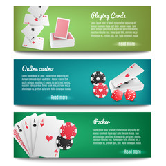 Casino Online Realistic Banners