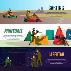 Modern Gaming Sports Banners Set