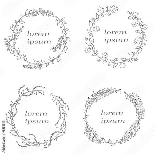 Vector linear frame with space for text holiday greetings wedding vector linear frame with space for text holiday greetings wedding party invitation design template m4hsunfo