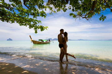 Couple on honeymoon Koh Kradan