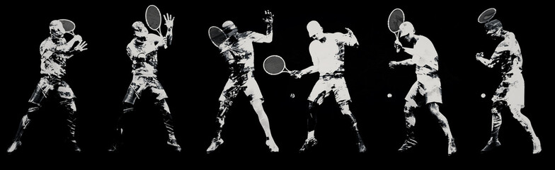 Abstract tennis players