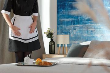 Housemaid in bedroom