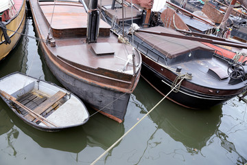 Old harbor in Rotterdam, Netherlands