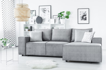 Modern scandi living room interior