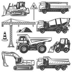 Vintage Construction Machines Set