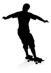 Skater Skateboarder Silhouette
