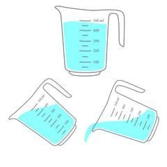 Measuring cups . Vector