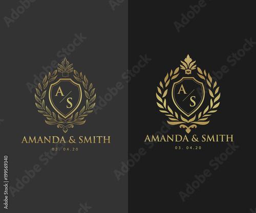 Wedding logo template luxury icons for fashion brand wedding wedding logo template luxury icons for fashion brand wedding invitation card hotel stopboris Gallery