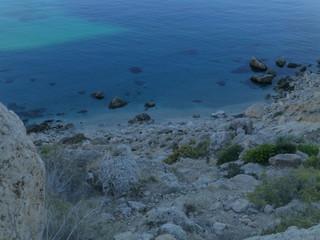 Cala San Pedro en Cabo de Gata-Níjar en Almeria, Andalucía (España)