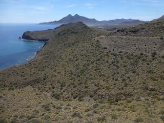 Isleta del moro en Cabo de Gata-Níjar en Almeria,Andalucía (España)