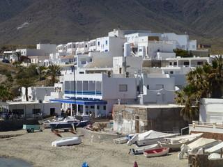 Isleta del Moro, localidad de Cabo de Gata-Níjar en Almeria,Andalucía (España)
