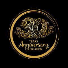 90th anniversary celebration logo