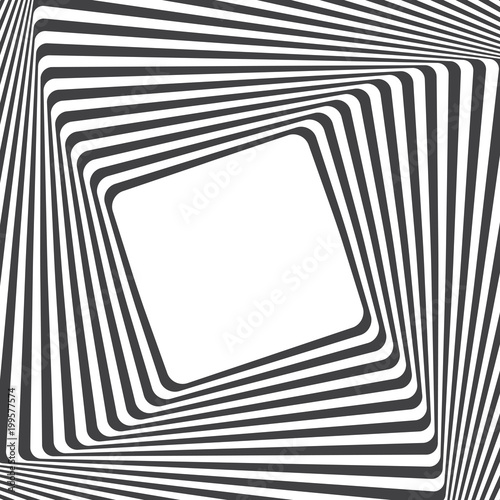 Optical art background. Optical illusion frame with empty space ...