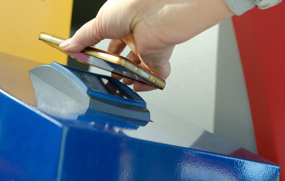 Self-check-in with a barcode reader and printout pass